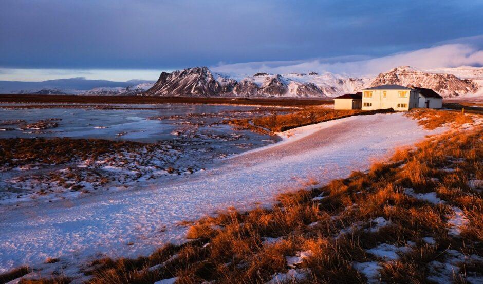 Libri di viaggio in Islanda - Tramonto in inverno