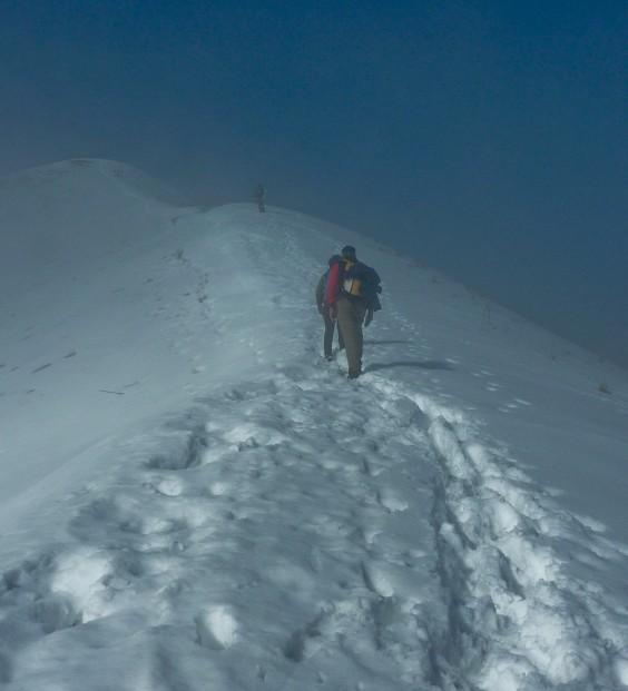 monte bollettone neve trekking