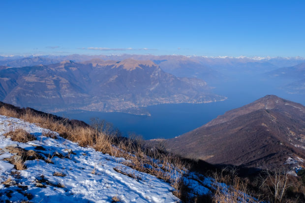 monte san primo vista lago
