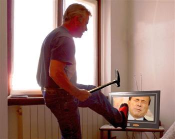 distruggere la TV