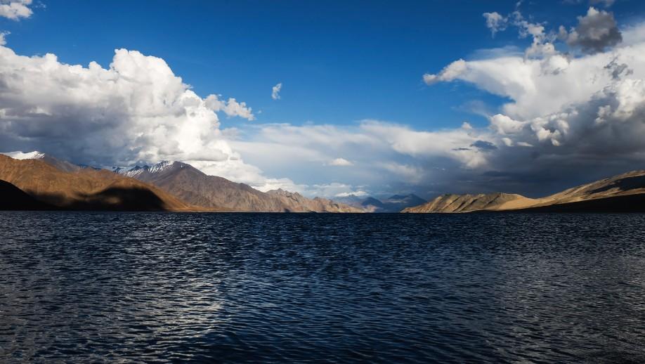 pangong lake ladakh tramonto piccolo tibet