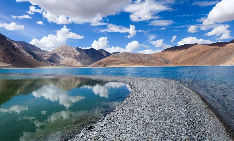 pangong tso ladakh tibet india del nord