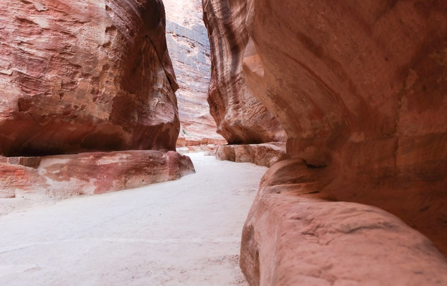 petra canyon rocce siq