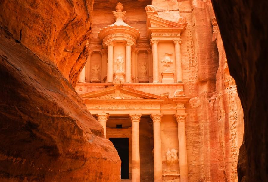 petra il tesoro alba giordania