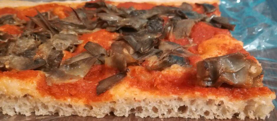 Pizza lievito licoli, impastata con impastatrice, ricetta con farina tipo 0 e tipo 1 biologiche