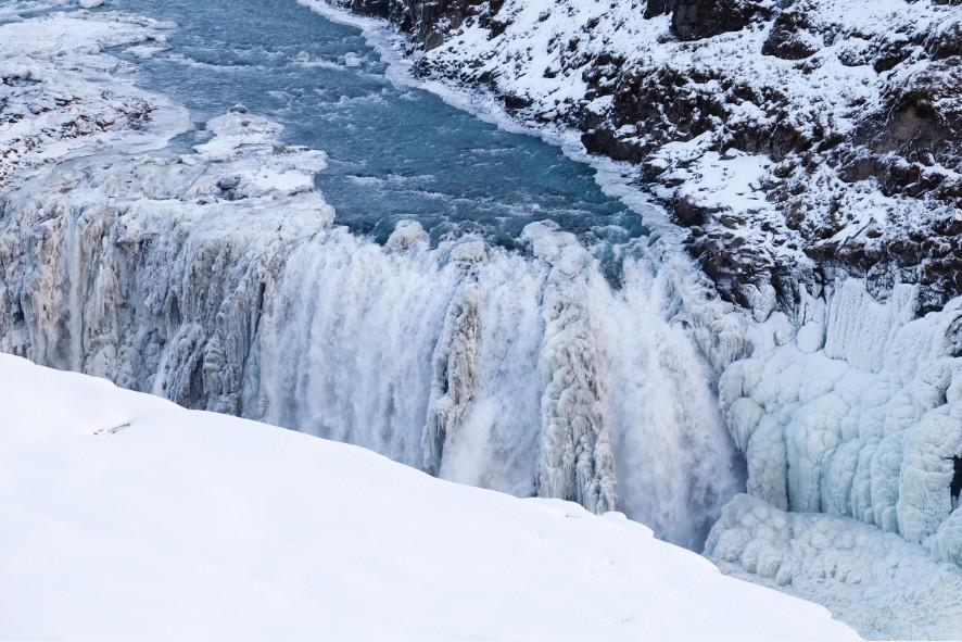 racconto di viaggio islanda cascata gullfoss inverno