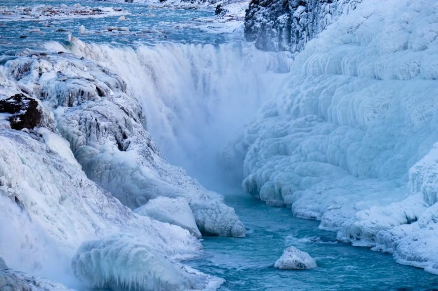 racconto di viaggio islanda gullfoss inverno ghiaccio