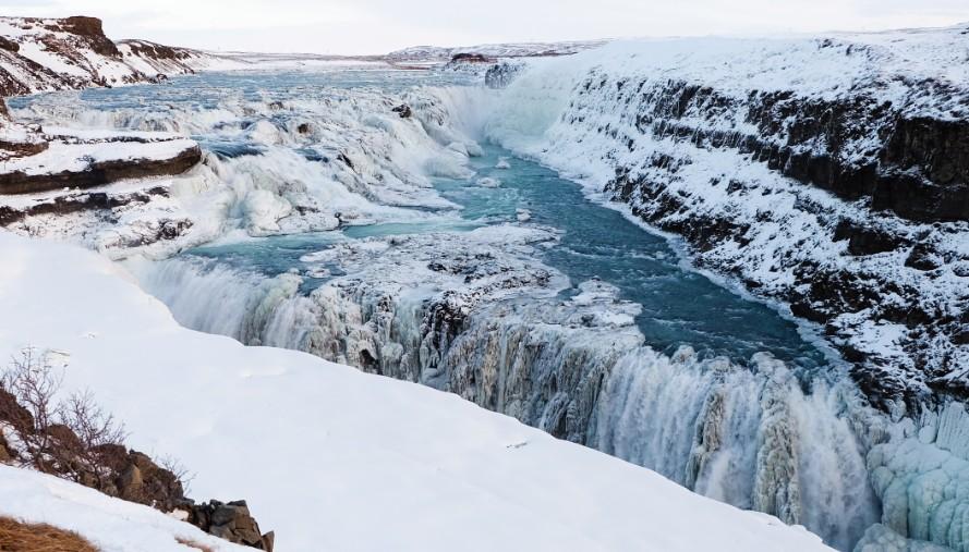 racconto di viaggio islanda gullfoss inverno