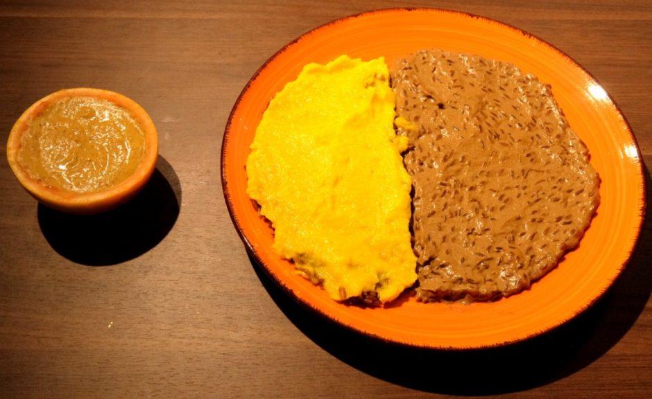 ricetta gourmet vegana riso crema di porcini peperoni e hummus