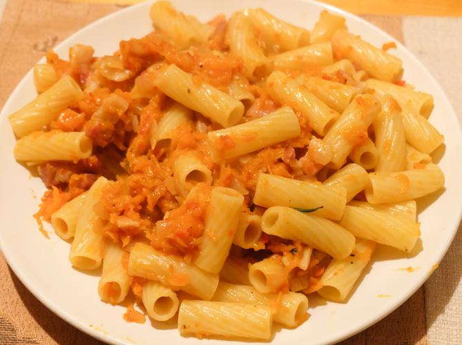 ricetta pasta arancia