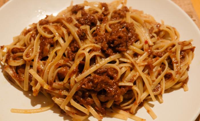 ricetta pasta pesto radicchio speziato
