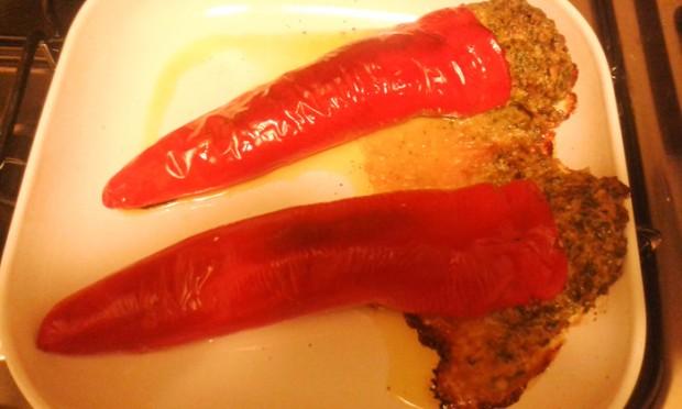 ricetta peperoni ripieni mandorle funghi