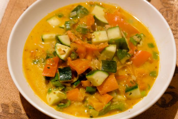 ricetta zuppa thai curry verde