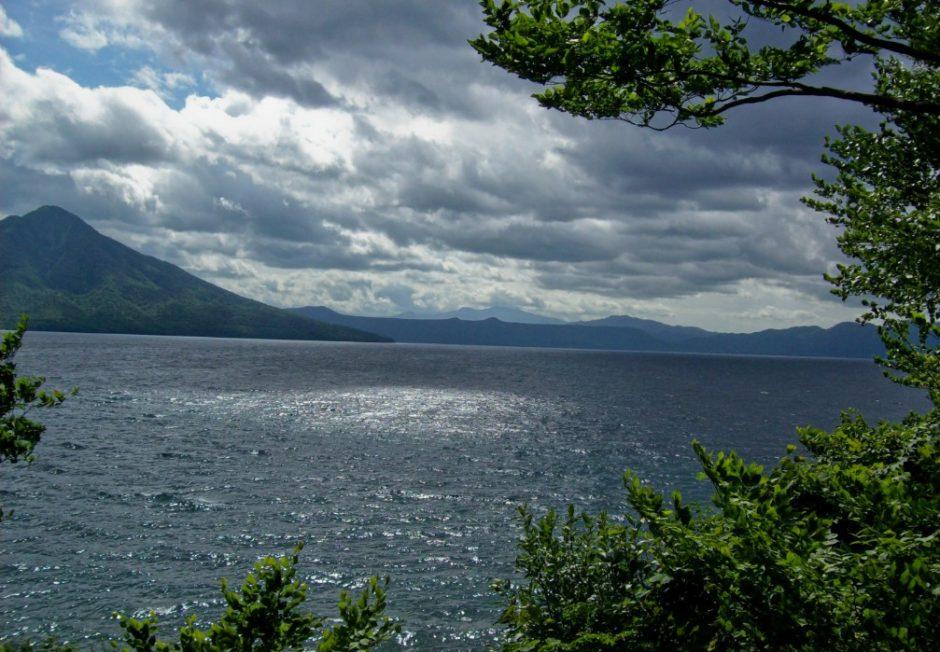 shikotsu lago hokkaido giappone lago