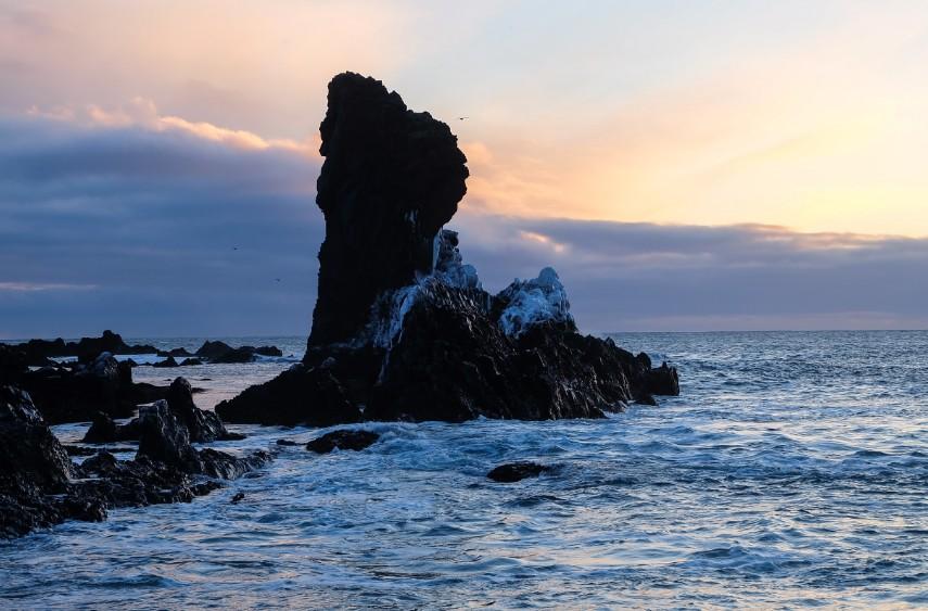 snaefellsnes Djupalonssandur spiaggia islanda viaggio inverno