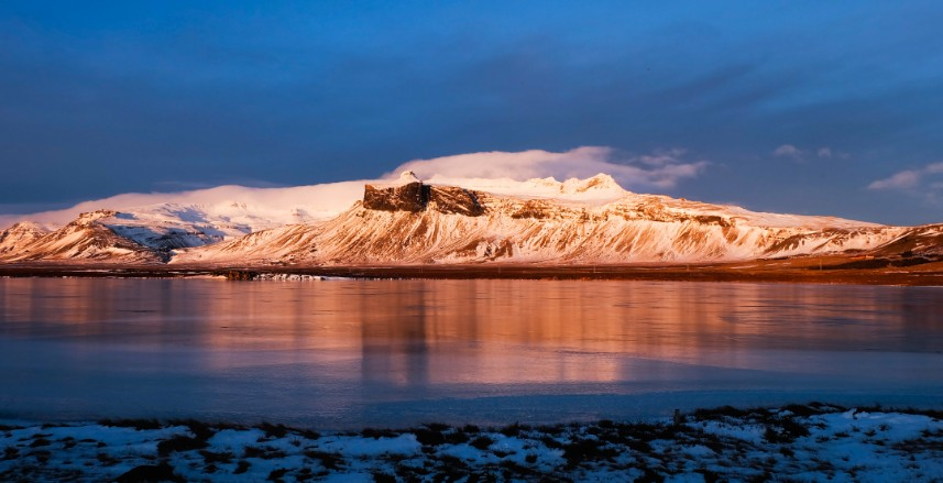 snaefellsnes alba inverno islanda viaggio