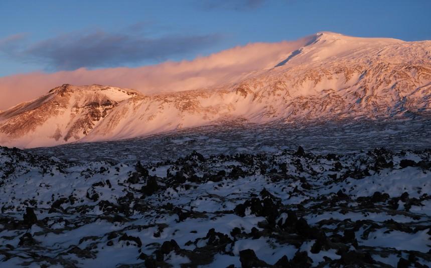 snaefellsnes parco nazionale tramonto viaggio islanda inverno