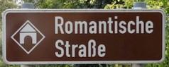 strada romantica bicicletta baviera cartello auto