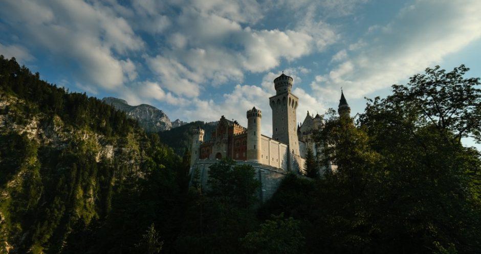 strada romantica bicicletta baviera castello neuschwanstein