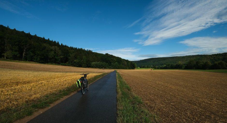 strada romantica bicicletta baviera tappa Tauberbischofsheim wurzburg pista ciclabile