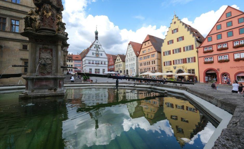 trada romantica bicicletta baviera tappa dinkelsbuhl rothenburg fontana