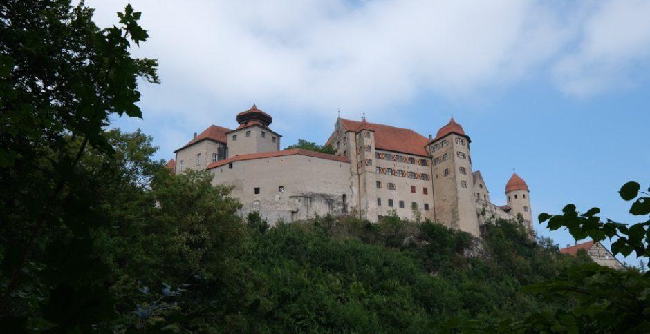 strada romantica bicicletta baviera tappa donauworth nordlingen harburg castello