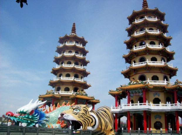 taiwan pagoda drago e tigre