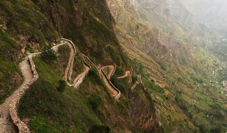 trekking cova de paul sentiero tornanti santo antao capo verde