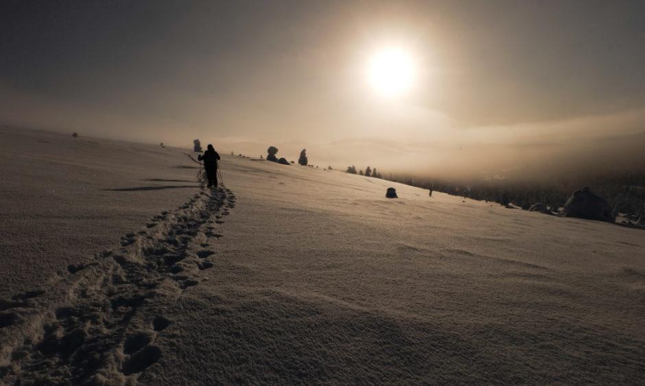 trekking invernale in finlandia libri di viaggio lapponia