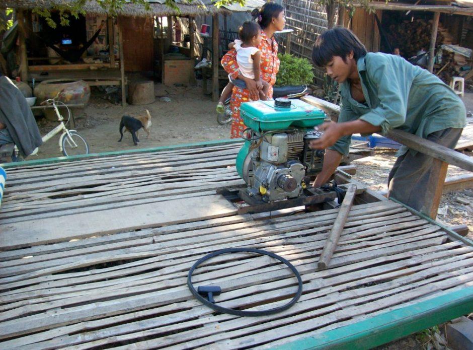 treno di bambù battambang cambogia