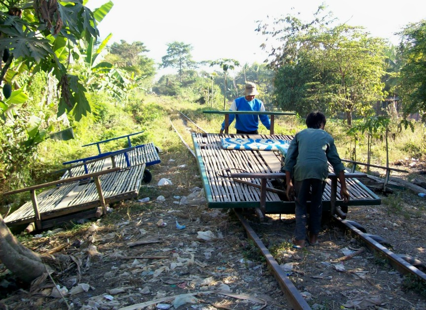treno di bambù cambogia battambang