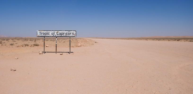 tropico del capricorno strada viaggio namibia