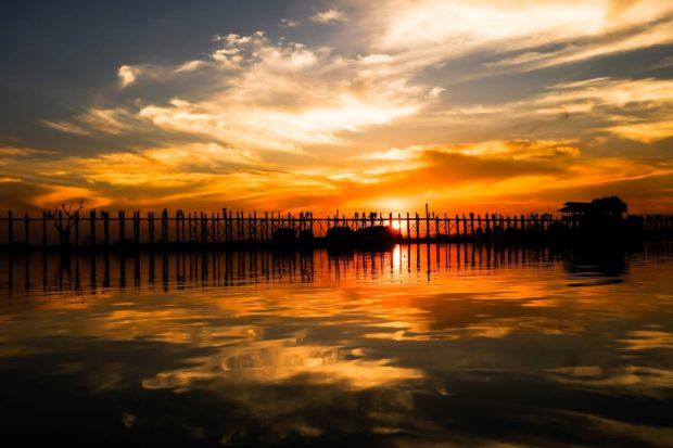u-bein ponte amarapura birmania