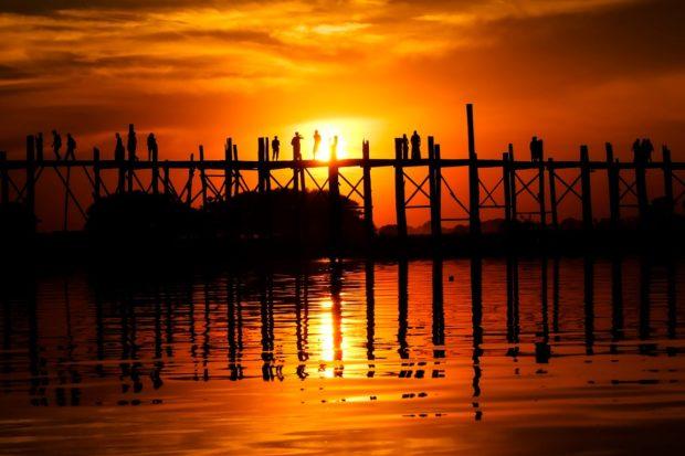 u-bein ponte amarapura tramonto