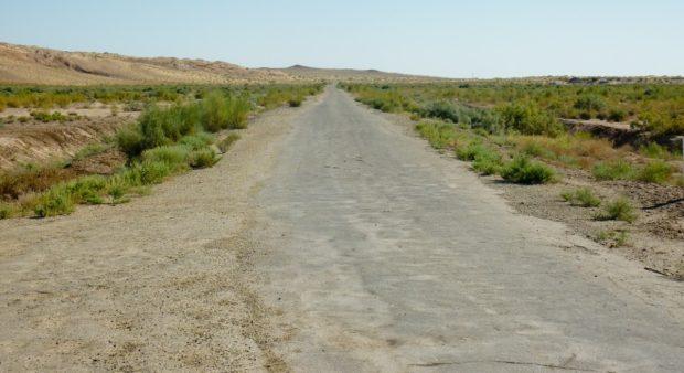 uzbekistan attraverso la steppa
