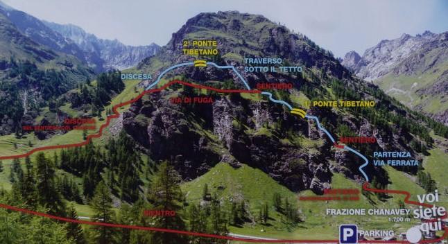 via ferrata di casimiro val di rhemes valle aosta escursione
