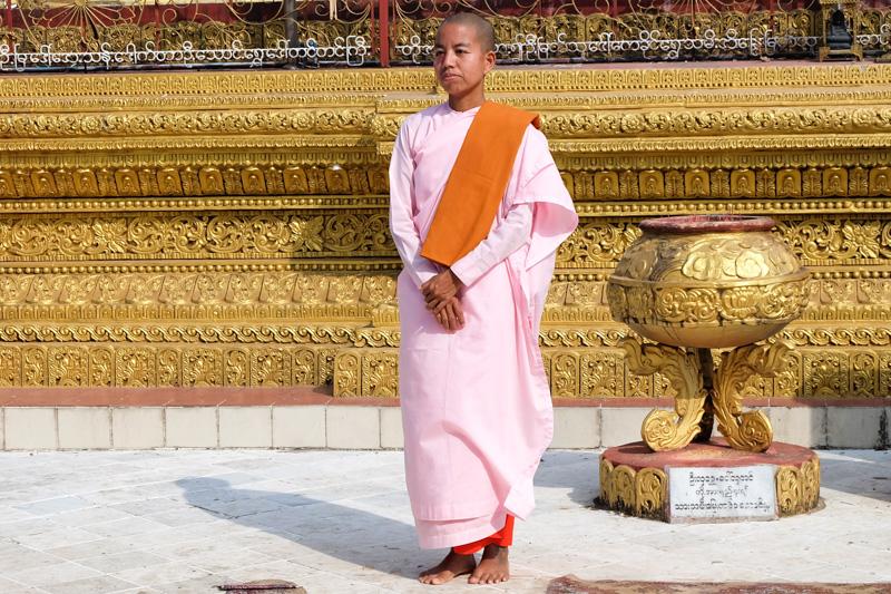 viaggio in Birmania, monaca