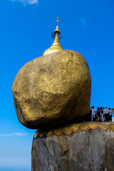 viaggio in Birmania, roccia dorata