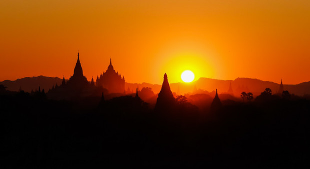 viaggio in Birmania, Bagan al tramonto