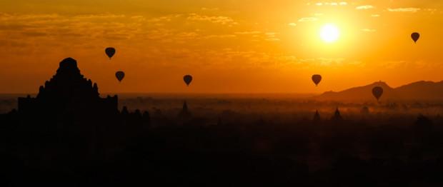 viaggio in Birmania, Bagan all'alba