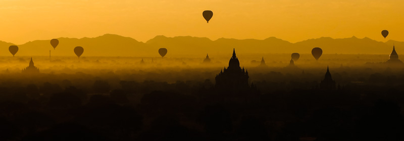 viaggio in Birmania, Bagan all'alba