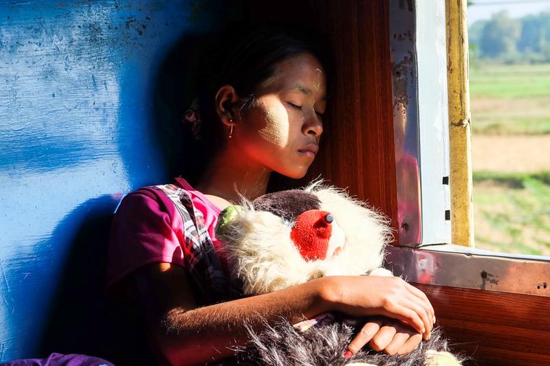 viaggio in Birmania, treno