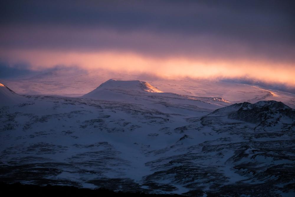 viaggio in Islanda tramonto inverno
