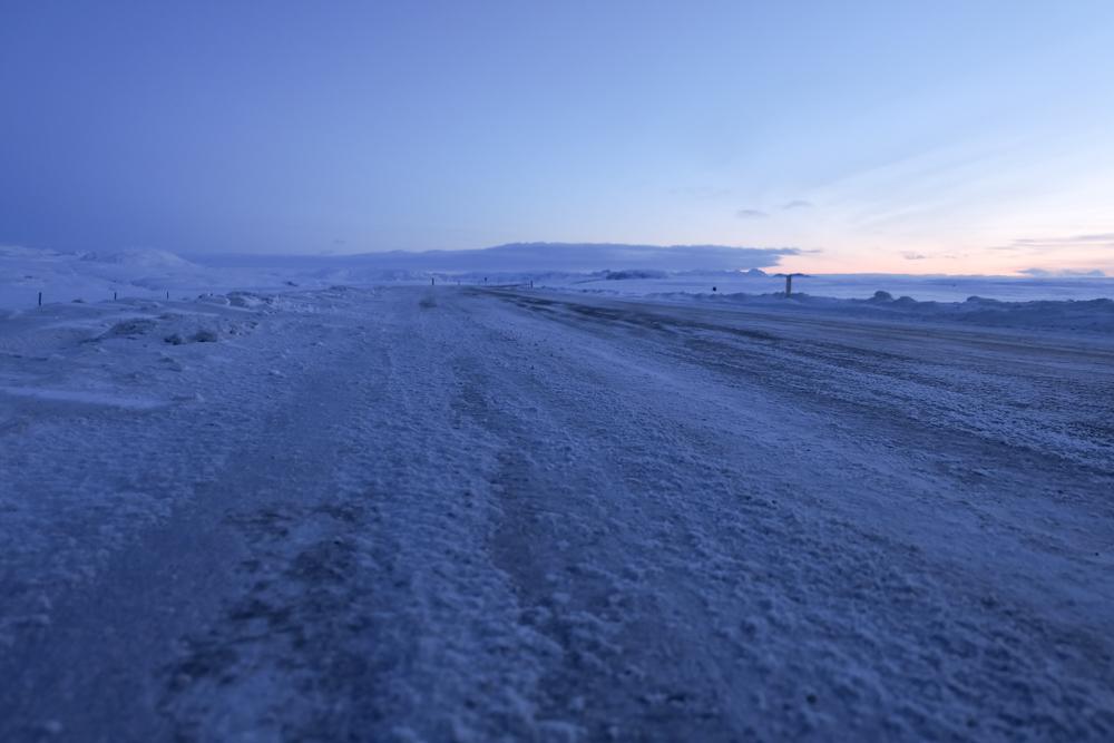 viaggio in Islanda strada ghiaccio