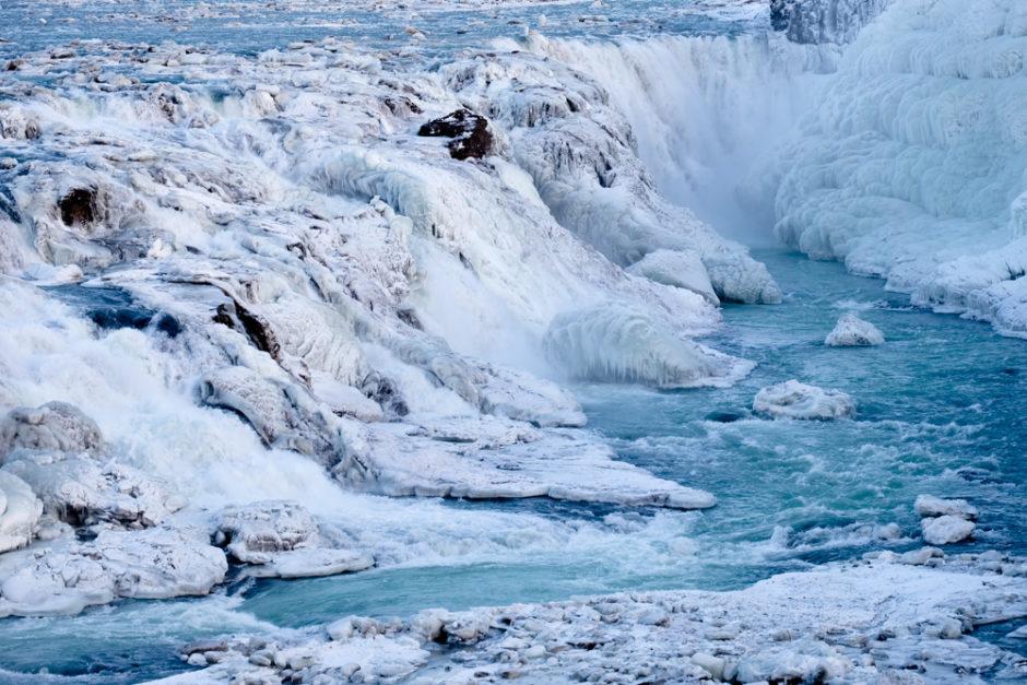 viaggio in Islanda Gullfoss inverno