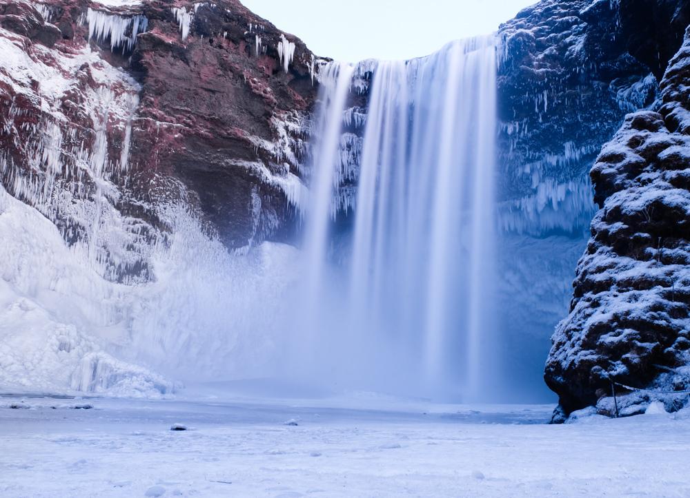 viaggio in Islanda Skogafoss inverno