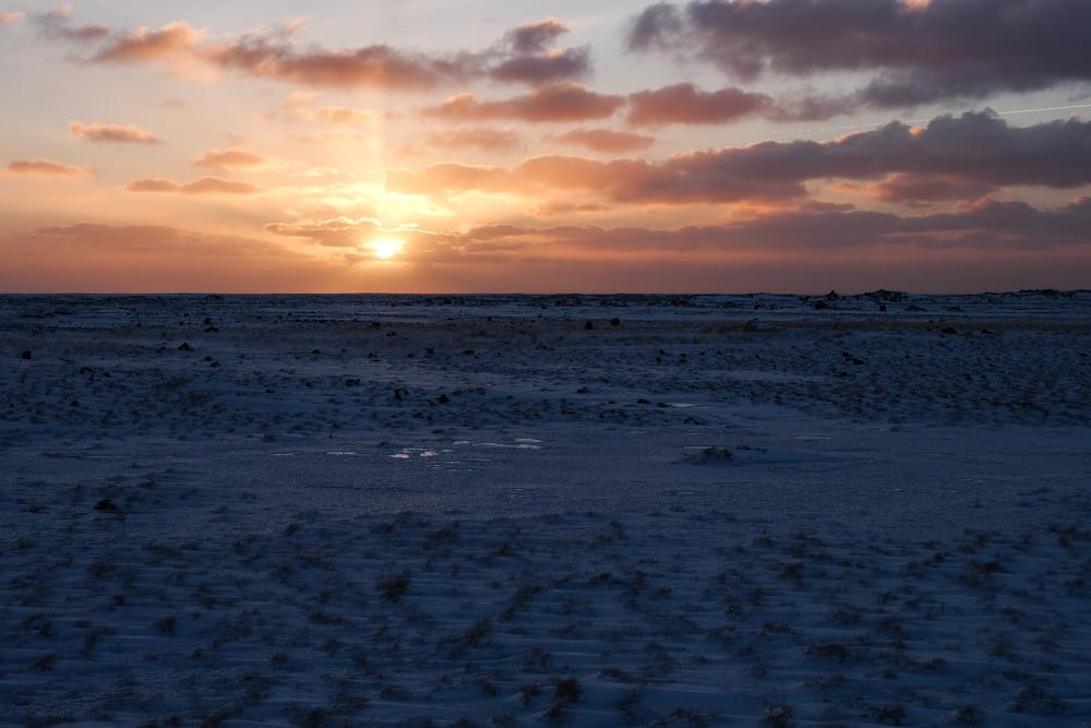 viaggio in Islanda alba inverno