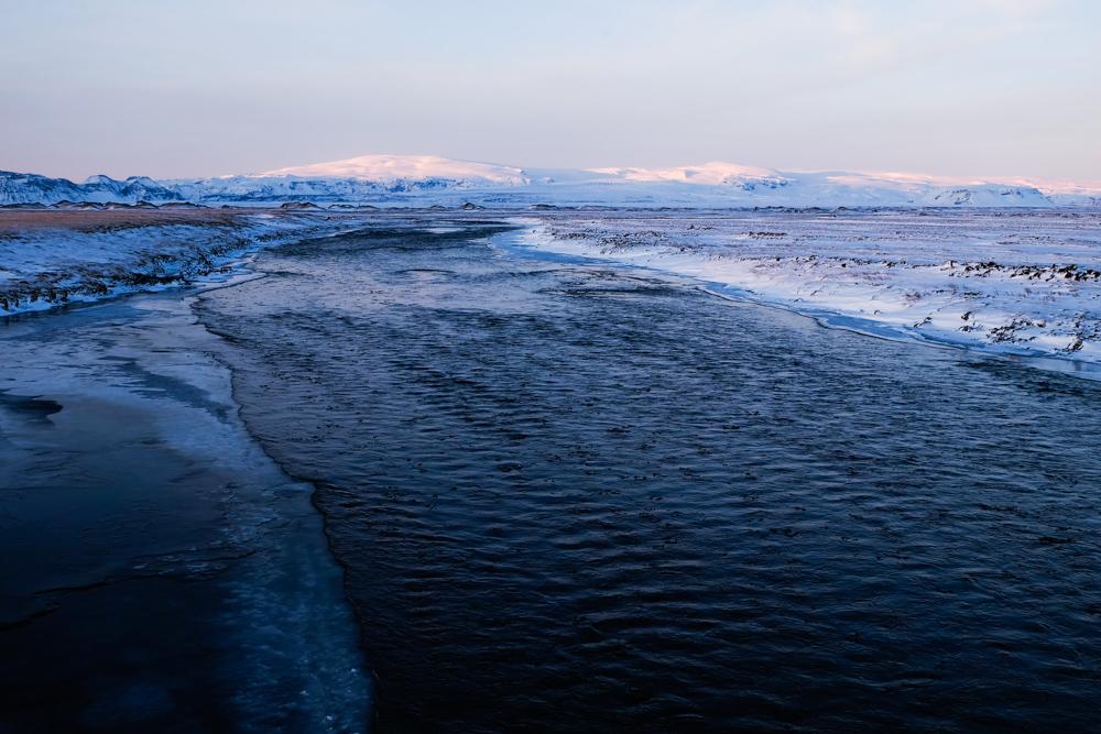 viaggio in Islanda fiume gelato
