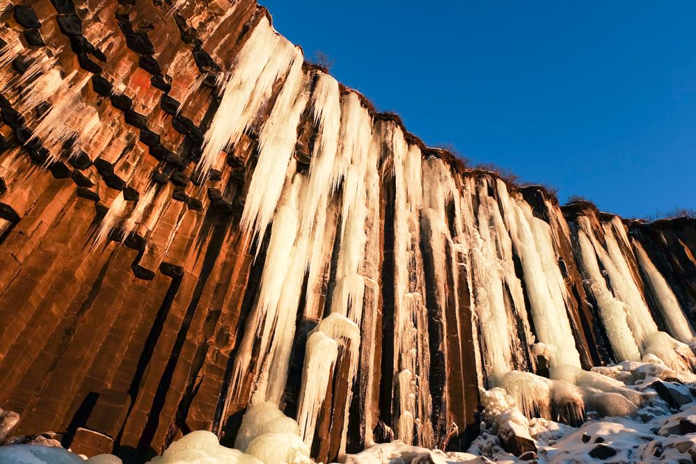 viaggio in Islanda Svartifoss ghiacciata