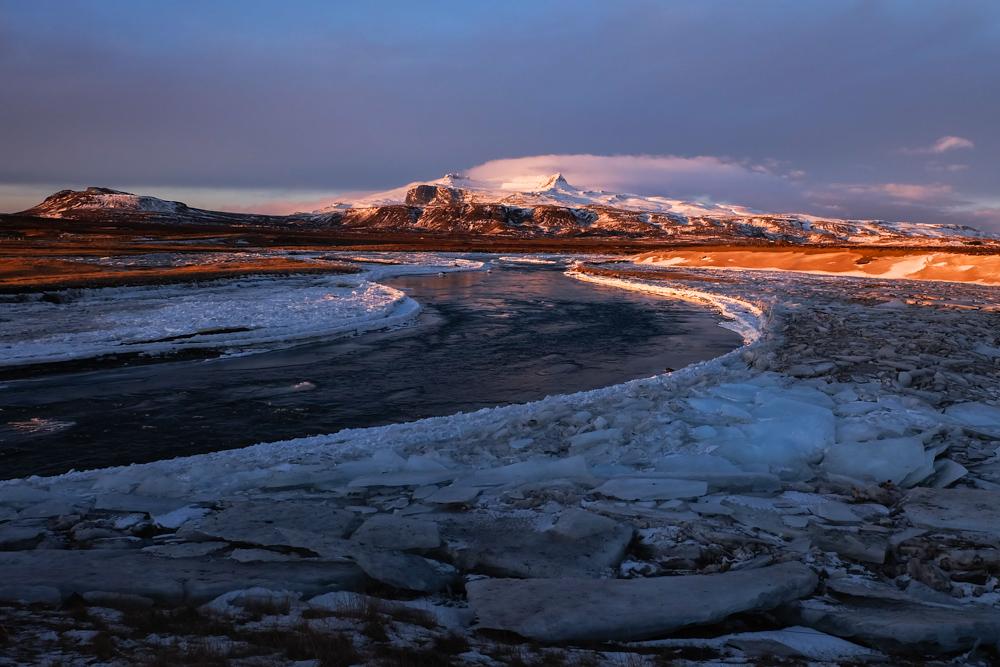 Islanda inverno - fiume e ghaccio
